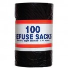 Big Value Refuse Sacks on a Roll 92 Litre Capacity 737x864mm Black Ref RY00365 [Roll 100]