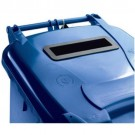 Confidential Waste Wheelie Bin 140 Litre Blue 377891