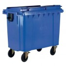 Wheelie Bin With Flat Lid 770 Litre Blue 377386