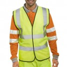 Bseen High Visibility Waistcoat Full App 2XL Yellow/Black Piping Ref WCENG