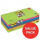Post-it Notes Super Sticky XL 101 x 101mm Ultra Colours (Pack of 12) 675-SSUC-P8+4