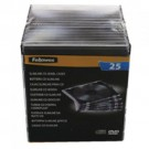 Fellowes CD Jewel Case Slimline Clear Ref 98316 [Pack 25]