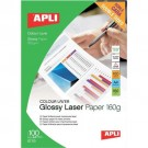 Apli Laser Paper Glossy Double-sided 160gsm A4 11817