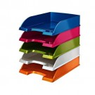 Leitz WOW Letter Tray Stackable Glossy White Pearl Ref 52263001
