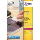 Avery Anti-Tamper Labels Laser 48 per Sheet 45.7x21.2mm White Ref L6113-20 [960 Labels]