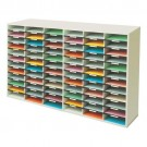 Melamine-Laminated 72 Compartment Literature Sorter Shell - Postal Sorters