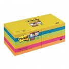 Post-it Notes Super Sticky 76 x 76mm Rio (Pack of 12) 654-12SS-RIO
