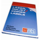 NTS High Quality Labels For Laser, Copier & Inkjet 21 Per Sheet 63.5 X 38.15mm