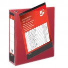5 Star Office Presentation Ring Binder Polypropylene 4 D-Ring 50mm Size A4 Red [Pack 10]