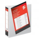 5 Star Office Presentation Ring Binder Polypropylene 2 D-Ring 50mm Size A4 White [Pack 10]