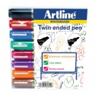 Artline 2-In-1 Assorted Pack Of Chisel Tip Whiteboard Markers EK525TA - Dry Wipe Markers