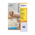 Avery Multi-Purpose Label 65 Per Sheet White 3666-200