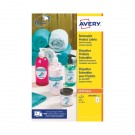 Avery Removable Labels Round 63.5mm 8 Per Sheet White (Pack of 200) L4852REV-25