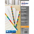 AVERY PUNCHED INDEX ASSORTED 1-10 A4 PACK OF 10 01735501 (FPC)