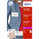 Avery Self Adhesive Name Badge 75 x 40mm White (Pack of 240) L4782-20