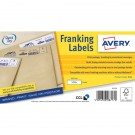 Avery Franking Label QuickDRY 165x44mm 1 Per Sheet White (Pack of 1000) FL11