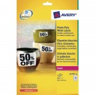 Avery Laser Label 45.7 x 21.2mm Heavy Duty Weatherproof 48 Per Sheet White L4778-20