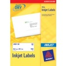 Avery Quickdry Inkjet Label 63.5 x 33.9mm 24 Per Sheet J8159-25
