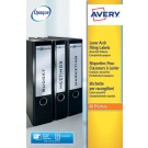 Avery Lever Arch File Spine Label Assorted 4 Per Sheet L7171A-20