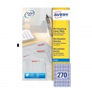 Avery Mini Inkjet Label 17.8 x 10mm 270 Per Sheet J8659-25