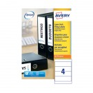 Avery Lever Arch File Label 200X60Mm L7171-100 - Filing Accessories
