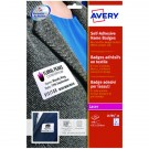 Avery Self Adhesive Name Badge 63.5 x 29.6mm White (Pack of 540) L4784-20