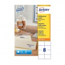 Avery Copier Label 105 x 71mm White 8 Per Sheet DPS08-100
