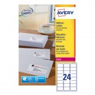 Avery Laser Address Labels QuickPEEL 64x33.86mm 24 Per Sheet White (Pack of 240) L7159-100