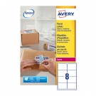Avery Jam-Free Laser Label 99.1 x 67.7mm 8 Per Sheet White L7165-100 (Fpc)