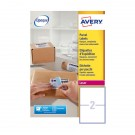 Avery Jam-Free Laser Label 199.6 x 143.5mm 2 Per Sheet L7168-100 (Fpc)