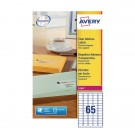 Avery Clear Laser Label Mini Address 65 Per Sheet L7551-25