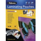 Fellowes Laminating Pouch A4 Matt 160 Micron Enhance 5452101