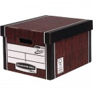 Fellowes R-Kive Premium Presto Woodgrain Storage Box 00725-FFLP - File Storage Boxes