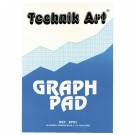 Technik 40Leaf A4 Art Graph Pad 1/5/10mm XPG1