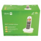 Doro DECT Cordless Telephone Big Button White PHONEEASY 100W