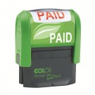 Colop Green Line Paid Word Stamp GLP20PAID - Word Stamps