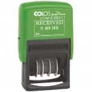 Colop Green Line Recieved Dater Stamp 15560150 - Word Stamp