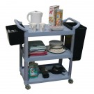 GPC 3 Shelf Service Trolley Grey HI424Y