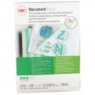 GBC Document Laminating Pouches A4 2 x 100 Micron Gloss (Pack of 100) 3740306
