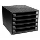 Forever 5 Drawer Set Black 221014D