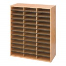 Safco 36 Compartment Literature Organiser Oak 9403MO