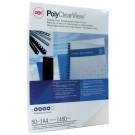 GBC PolyClearView A4 Frosted Clear Binding Covers (Pack of 50) IB387159