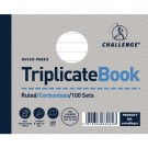 Challenge Carbonless Ruled Feint Triplicate Book 105x130mm 100080471