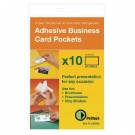 Pelltech Self-Adhesive Business Card Pockets 60x95mm PLH10141