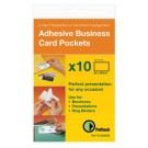 Pelltech Open Side Business Card Pockets 60x95mm PLH25510 - Business Card Holder
