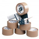 Ambassador Tape Dispenser With 6 Rolls Of Polypropylene Tape 50mm x 66 Metres 9761BDP01