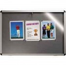 Nobo Lockable Visual Insert Board 1265x965mm Grey 31333501