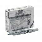 Pentel Maxiflo Whiteboard Marker Fine Black (Pack of 12) MWL5S-A