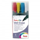 Pentel Assorted Chisel Tip Chalk Markers SMW26/4-BCGW