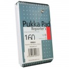 Pukka Pad Wirebound Metallic Reporter's Shorthand Notebook 160 Pages 205x140mm (Pack of 3) NM001